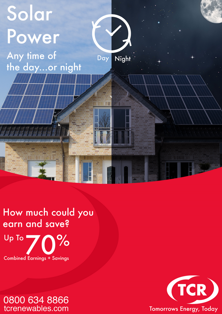 Solar Day or Night with Battery Storage